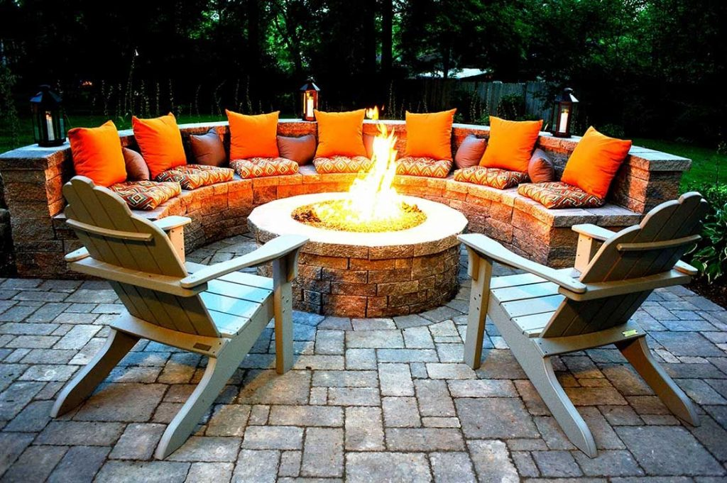 Outdoor Fire Pits-Flower Mound TX Professional Landscapers & Outdoor Living Designs-We offer Landscape Design, Outdoor Patios & Pergolas, Outdoor Living Spaces, Stonescapes, Residential & Commercial Landscaping, Irrigation Installation & Repairs, Drainage Systems, Landscape Lighting, Outdoor Living Spaces, Tree Service, Lawn Service, and more.